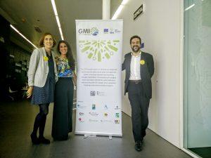 Berta Pérez (Cambra de Comerç de Barcelona), Diana Kobayter i Eri Vázquez, part de l'equip de GMI.