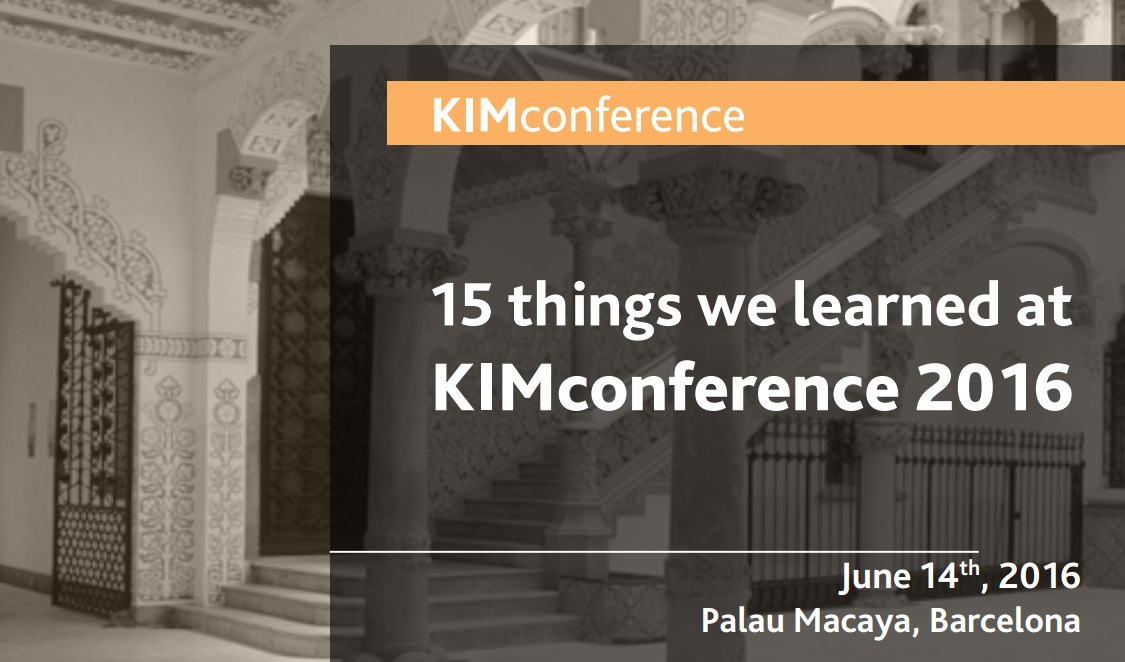 KIMconference Lessons learned
