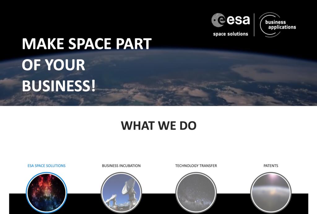 Web ESA Space Soltuions