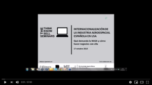 """WEBINAR: """"Internacionalización de la industria aeroespacial española en US"""""""