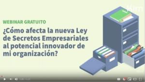 WebinarKIM- Ley de Secretos Empresariales y el potencial innovador de mi organización