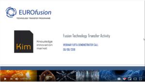FUTTA Webinar | Nueva Demonstrator Call para tecnologías derivadas de fusión