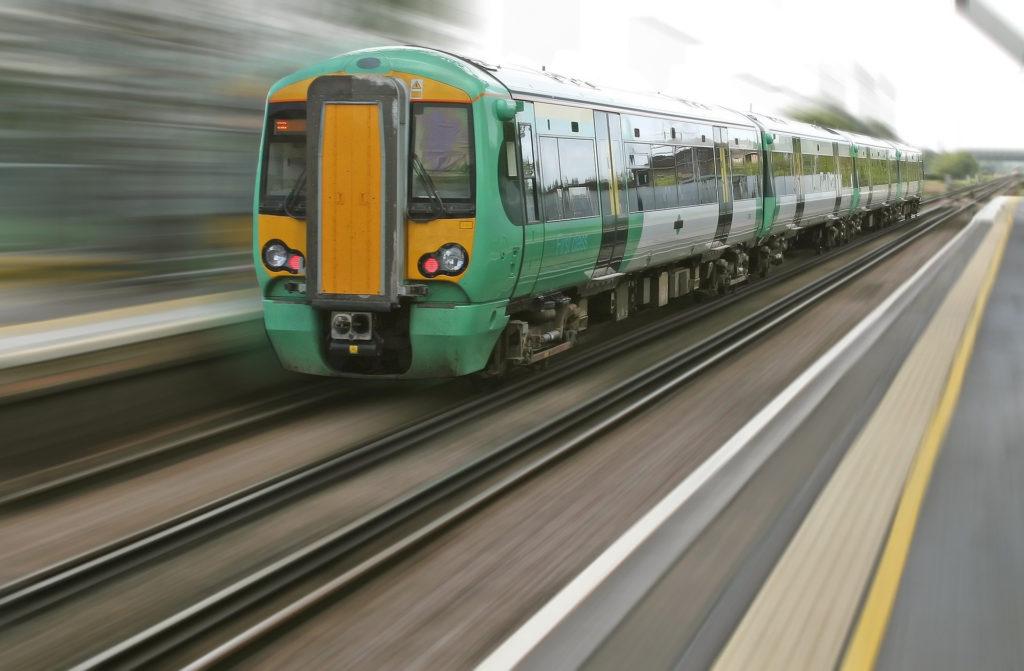 Transporte, tren, localización