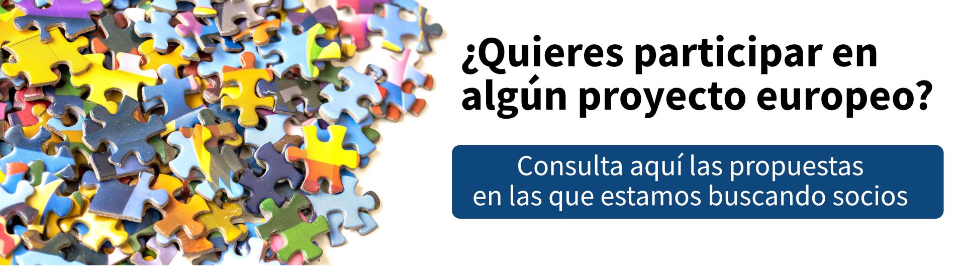 Quieres participar en algún proyecto europeo? Consulta aquí las propuestas en las que estamos buscando socios